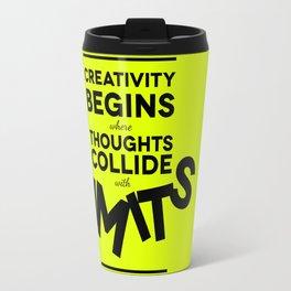 Creativity begins Travel Mug
