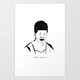 Angelou Art Print