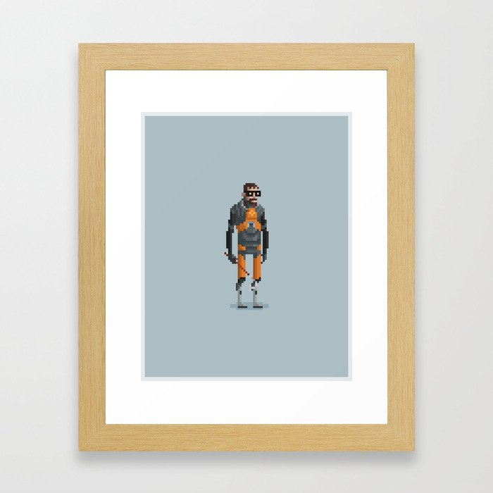Man With a Crowbar Framed Art Print