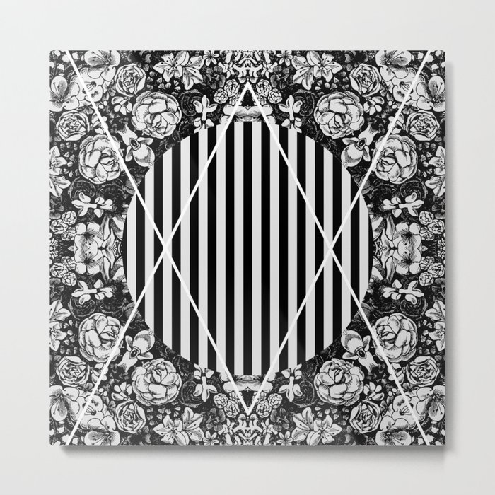 Cosmic Flora Metal Print