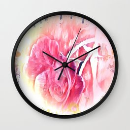 Rose Art Wall Clock
