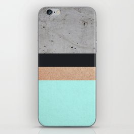 Abstract Turquoise Pattern iPhone Skin