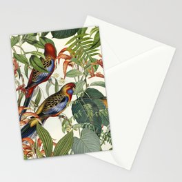 Jungle Birds Tropical Paradise Botanical Vintage Illustration Stationery Cards