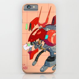 MSN-04 Sazabi Head Diagram iPhone Case