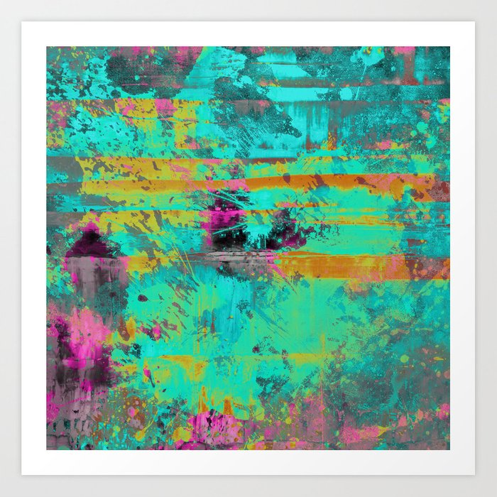 Keep It Cool Abstract Painting Art Print By Printpix Society6