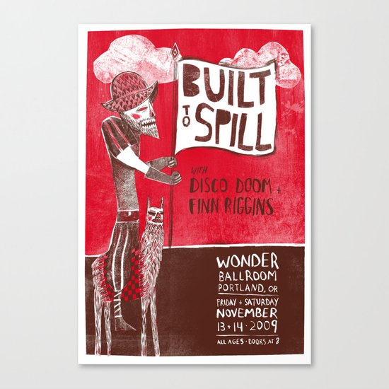 Built to Spill - Wonder Ballroom, Portland Canvas Print