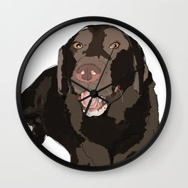 Labrador dog (black) Wall Clock