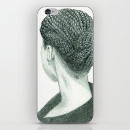 Back of Hair Self Portrait Print - My Twists iPhone Skin