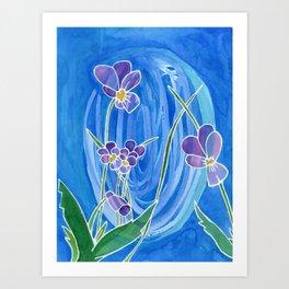 Violet Swirl Art Print