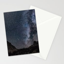Perseid Over Sacagawea Peak Stationery Cards
