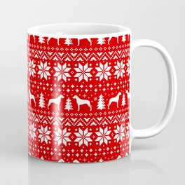 Rhodesian Ridgeback Silhouettes Christmas Sweater Pattern Coffee Mug