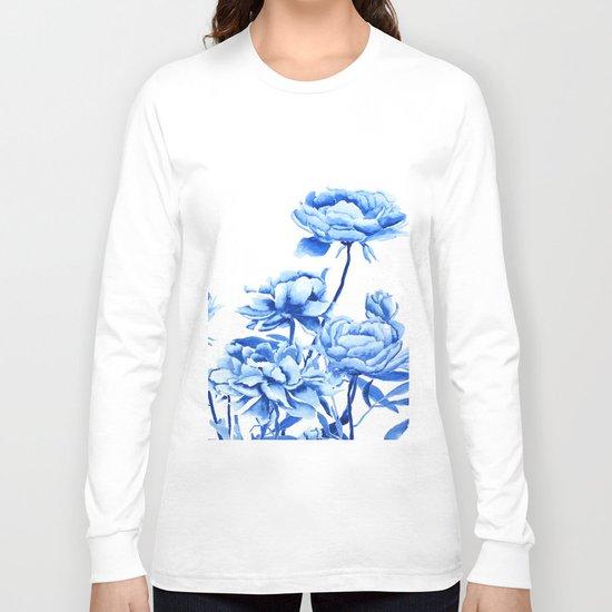 blue peonies 2 Long Sleeve T-shirt