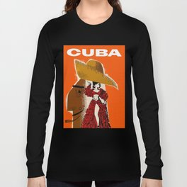 Vintage Travel Ad Cuba Long Sleeve T-shirt