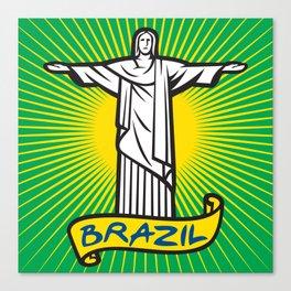 Christ the Redeemer statue in Rio de Janeiro, Brazil Canvas Print