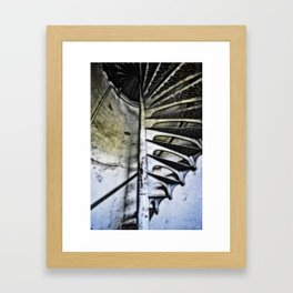 Lighthouse tower stairs Framed Art Print