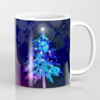 christmas tree Mugs featuring Christmas Tree by tscreative