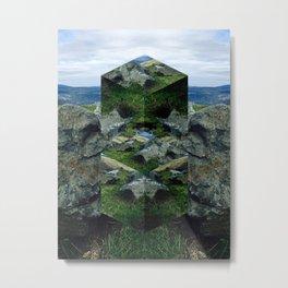 Cubed Hill Metal Print
