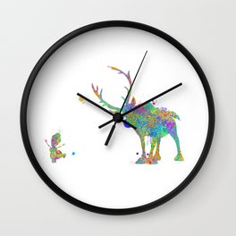 Olaf and Sven Wall Clock