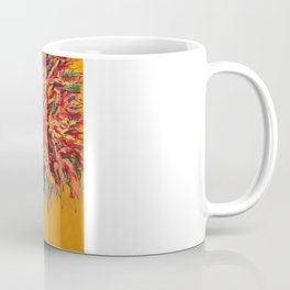 Firecrackers  Contemporary Floral Painting Coffee Mug