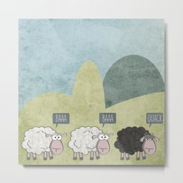 Rebel Sheep Metal Print