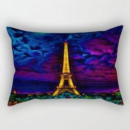 Paris Starry Night by Jeanpaul Ferro Rectangular Pillow
