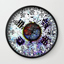 in to the sky, circuit board (south korea) Wall Clock