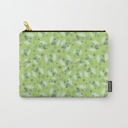 ladybug on the leaves in green Carry-All Pouch