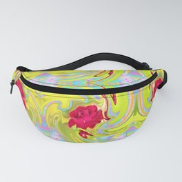 Cool Red Rose Abstract Art 096 Pattern Fanny Pack