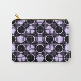 Dark and light Geometric Lavender Cirles Carry-All Pouch
