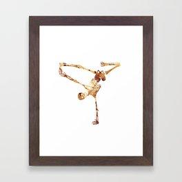Break dance Framed Art Print