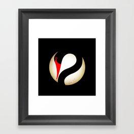 Black Swan Logo Framed Art Print