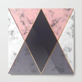 Marble Geometry 018 Metal Print
