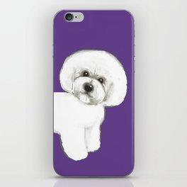 Bichon Frise dog on Ultraviolet, 2018 Bichon , Year of the dog, Pantone Ultraviolet iPhone Skin