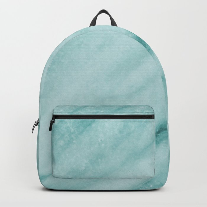 Teal Luxe Marble Backpack