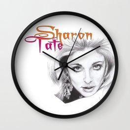 living doll...  sharon tate. Wall Clock