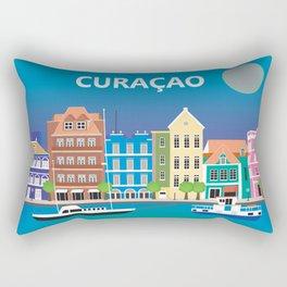 Curacao - Skyline Illustration by Loose Petals Rectangular Pillow