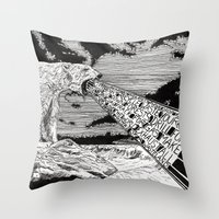 polar bear Throw Pillows featuring Polar Bear by Meredith Mackworth-Praed