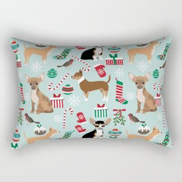 Chihuahua christmas best gifts for chihuahua owners dog pet portraits pet friendly Rectangular Pillow