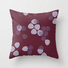 Bright Spring Petals in Burgundy Throw Pillow