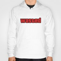 wasted rita Hoodies featuring Wasted by Yiannis
