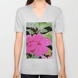 pink Impatiens - flower Unisex V-Neck