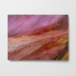 Streaks of red brown wool Metal Print
