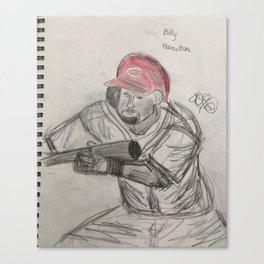 Billy Hamilton bunting Canvas Print