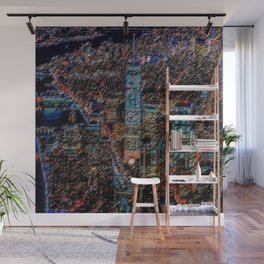 Lower Manhattan & Freedom Tower Landscape Painting by Jeanpaul Ferro Wall Mural