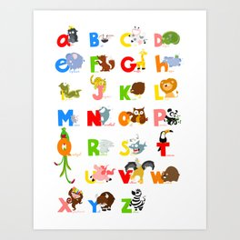 ABC (english) Art Print