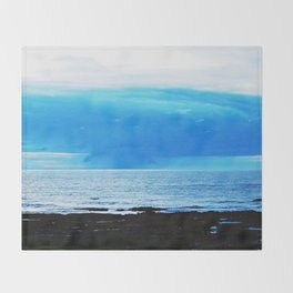 Storm Funnels Above the Sea Throw Blanket