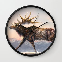 Megaloceros Giganteus Restored Wall Clock