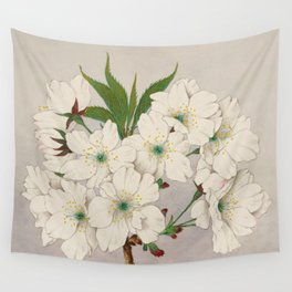 Cascade Fragrance Cherry Blossoms Wall Tapestry