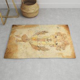 """Paul Klee """"Angelus Novus 1920"""" Rug"""
