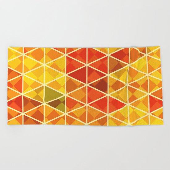 Sunset pattern wall art Beach Towel